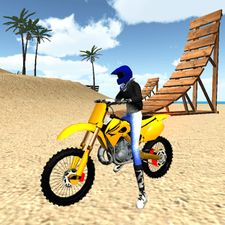 Взломанная Motocross Beach Jumping 3D (Взлом на монеты) на Андроид
